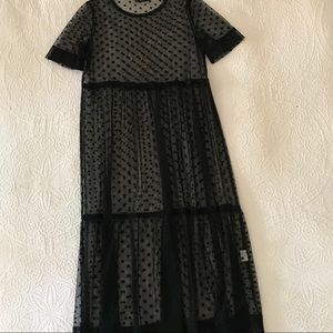 Sheer long length dress